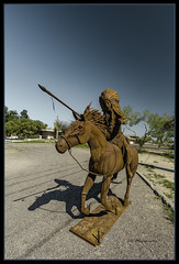 Rusty Horse and Rider (TAC.Photography) Tags: steel weldedsteelart indian horse