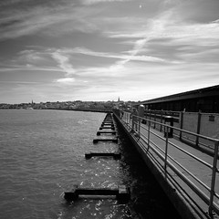 IOW-Ryde (stugee) Tags: fuji fujifilm x e2 xe2 xe 2 samyang rokinon 12mm f20 mono monochrome noir noire black white bw bn blanc et negre isleofwight ryde pier fishing angling anglers