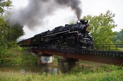 steam in valley 2016 sat am 030 (Fan-T) Tags: steaminvalley2016satam 767 765 nkp nickel plate road steam engine brecksville ohio bridge bo cvsr