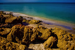 View of Caspersen Beach, Harbor Drive, Venice, Florida, U.S.A. (Jorge Marco Molina) Tags: caspersenbeach florida usa sarasotacounty longexposure nikond7100 seascape water ocean sunshinestate rockyshoreline sand beach harbordrive venicebeach venice