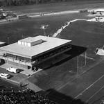 Finley Fieldhouse, aerial shot; circa 1970