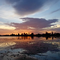 Chaiyaphum Province, Thailand 2016 (charly unterwegs) Tags: reflection reflexion clouds clous snde down sunset southeastasia asien asia thailnder thai thailand unlimitedphotos unlimitedfotos