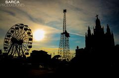 Tibidabo - Barcelona (SARCA Producciones) Tags: tibidabo barcelona collersola parc parque atracciones noria iglesia carretera aiges aguas de las contraluz sombras atardecer pendulo montaa rusa sol contraste contrastado colour colores