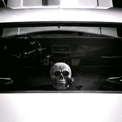 (MattSnap) Tags: cars classiccars musclecars americancars skull skulls blackandwhite bonnet wheel car fair abstract reflection reflections