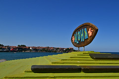 Aloha :-) (Angelina Ra) Tags: nikon d3100 black sea sky blue aloha sozopol bulgaria beach bar