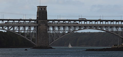 Train and Road Traffic, Britannia Bridge (alison's daily photo) Tags: bridge menaistraits anglesey britanniabridge
