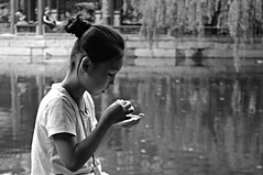 untitled (yiheyuan - beijing, china) (bloodybee) Tags: yiheyuan beijing china asia travel girl child portrait bw face