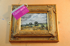 Towards Wombwell - Original Landscape Painting by Steve Greaves (Steve Greaves) Tags: art artwork landscape painting paint sky trees wombwell darfield barnsley yorkshire england english contemporary frame framed exhibition exhibit mirrorplate mirrorbracket paletteknife kyffin kyffinwilliams vincent vincentvangogh vangogh grey green gold brown sienna ornate gilt modern investment unique canvas