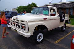 1963 Ford F-100 4X4 Stepside (ilgunmkr - Thanks for 5,000,000+ Views) Tags: carshow amboyillinois 2016 ford fordtruck f100 4x4 fourwheeldrive shortbed stepside