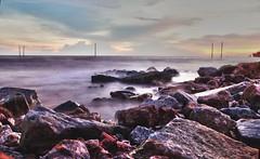Beach Bagan Lalang (pyan ishak) Tags: beach baganlalang slowshutter sunset sonya37 malaysia ps6 edit
