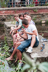 Tramlines 2013 (Roger Hanuk) Tags: groupofpeople canal england everlypregnantbrothers fatcat festival kelhamisland men party sheffield southyorkshire tramlines young unitedkingdom