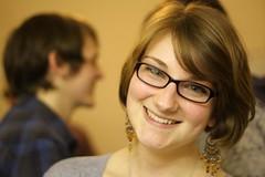 Helen (Nina J. G.) Tags: party portrait woman girl smile glasses earrings