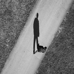 Me and my Shadow Properly Oriented (michael.veltman) Tags: shadow monochrome looking down orientation proper
