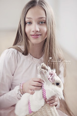girls (Elena (Litsova) Sigtryggsson) Tags: rabbit girl easter child naturallight indoor childphotography childportraiture londonchildphotographer