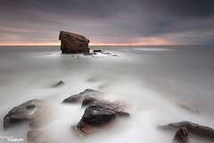 Charlie Goes Long (Dave Brightwell) Tags: longexposure sky seascape sunrise canon coast rocks northumberland coastal northsea northeast hitech redsnapper bwnd davebrightwell