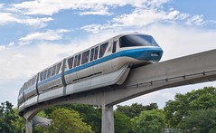 Monorail Blue (Ray Horwath) Tags: epcot nikon disney disneyworld transportation nikkor wdw waltdisneyworld disneytransportation nikkorlens horwath d700 nikkor50mmf14lens disneyphotos monorailblue epcotsfutureworld epcotmonorail rayhorwath disneymonorails