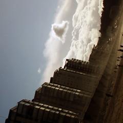 2421 (sul gm) Tags: sky espaa love beach architecture clouds buildings spain arquitectura edificios heart amor asturias playa diagonal salinas cielo nubes 70s nuages corazn amore asturies setentas castrilln