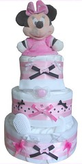 minnie-mouse-baby-girl-3-tier-nappy-cakes (Labours Of Love Baby Gifts) Tags: babygift babygifts nappycake nappycakes babynapyckaes babynapycake
