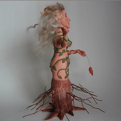 Mother Nature Sculpture right side view (CreateMyWorldDesigns) Tags: autumn winter summer sculpture tree fall nature leaves female spring bottle vines branches mother seed polymerclay human fourseasons figure trunk form bud etsy artdoll challenge guild pcagoe