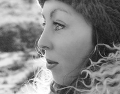 Portrait in the snow. (jonathan charles photo) Tags: winter portrait bw art topf25 beauty photo jonathan charles pensive 1970 jonathancharles chercherlafemme