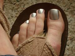 Essie - Loophole (toepaintguy) Tags: man male men guy feet silver foot sandals nail polish nails chrome pedicure sandal toenails toenail lacquer pedi