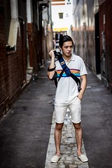 Ready To Shoot!!! (Photos By Dlee) Tags: portrait man guy lines fashion canon buildings asian concrete clothing photographer zoom bokeh pavement naturallight outoffocus telephoto adobe alleyway perth backpack westernaustralia environmentalportrait canonef70200mmf4l 550d 60d t2i photoscape sigma50mm14 kissx4 lightroom4 photosbydlee photosbydlee13