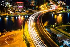 Khanh Hoi bridge (Andy Le | +84908231181) Tags: city bridge water skyline canon river asian lights google vietnam chi nights ho minh saigon hoi khanh cannal