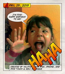 Umi is five today! (mmrazzaque) Tags: halftone