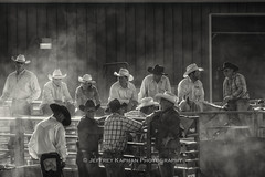 good and dusty (jk.photos) Tags: people blackandwhite cowboys rodeo wyoming cowgirls jacksonhole cowboyhats cowboyboots cowgirlhats nikon70200 nikond700