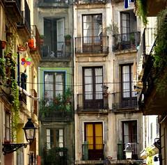 la vida s al darrera de les finestres   -   la vida esta detras de las ventanas  - EXPLORE (ricardestruch) Tags: barcelona ventana finestra barrio raval barri