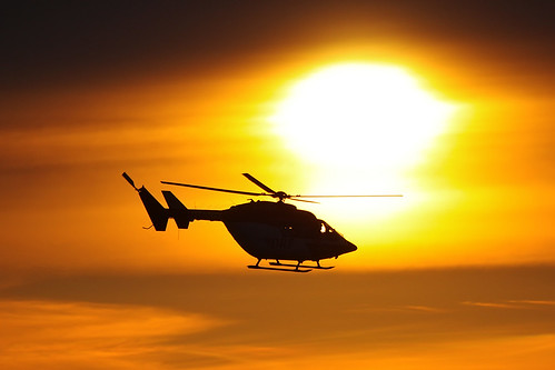 DRF Luftrettung Helicopter in Sunset
