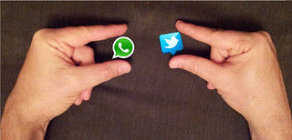 Sizing up WhatsApp and Twitter