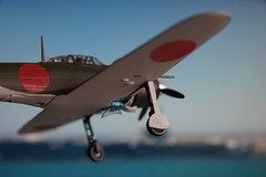 Zero is approaching aircraft carrier for landing (James Tung) Tags: fighter zero witty 52 172 diecast a6m5