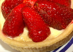 Strawberry cream tart (Tony Worrall Foto) Tags: uk england food english cakes fruit nice berry berries photos sweet cream tasty eaten images sugar eat foodporn pastry snacks taste sugary bake tarts bought baked creamy piled stawberries tonysphotos creamtarts 2013tonyworrall
