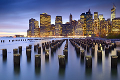 New York, New York (le-spikey) Tags: new york old city sunset sea skyline brooklyn river pier twilight nikon long exposure lee 1750 heights tamron manhatten f28 grads supports d7000