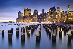New York, New York (Stu Meech) Tags: new york old city sunset sea skyline brooklyn river pier twilight nikon long exposure lee 1750 heights tamron manhatten f28 grads supports d7000