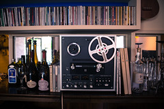 Retro Stylings (KevinEganPhotos) Tags: music bar restaurant nikon wine sigma retro cds     d600   2870mmf284