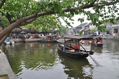 Family Trip to Xitang Ancient Water Town, Jiaxing Zhejiang (Phreddie) Tags: china trip travel bridge family food holiday water river fun boat town ancient xitang oriental venetia zhejiang cannal    jiaxing 130429