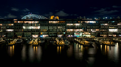 walsh bay apartments and sydney harbour bridge (ghee) Tags: reflection water night canon apartments nightshot harbour tripod sydney nsw apartmentbuilding sydneyharbourbridge 6d walshbay ghee gwp bluespoint guywilkinsonphotography