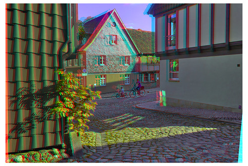 Quedlinburg in the evening 3D ::: DRi Anaglyph Stereoscopy