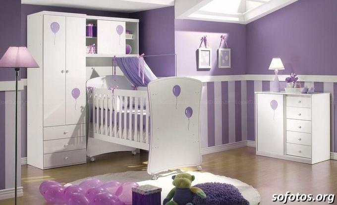 quartos de bebe roxo lilas