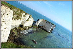 Old Harry Rock Taken on a angle (Coolcats100) Tags: pictures old uk sea england cliff water rock clouds canon coast rocks europa europe waves angle may harry cliffs mai national dorset trust jurassic purbeck 113 purbecks cliffside jurassiccoast 2013 oldharryrock canon650d 113picturesin2013