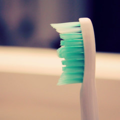 toothbrush (uninvented colors) Tags: white bathroom aqua teeth toothbrush dentistry darkblue dentalhygeine