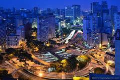 Sao Paulo by Night - Anhangabau Lights (Carlos Alkmin) Tags: city longexposure light cidade brazil color colour detail building art cars arquitetura brasil natal skyline architecture night skyscraper advertising outdoors photography lights photo downtown foto photographer traffic saopaulo image sopaulo centre centro central citylife s sampa sp esquina carro noite editorial portal luzes concept fotografia repblica centrovelho trnsito imagem digitalphotography detalhe imagebank longaexposio iluminao stockphotography anhangaba viadutodoch revitalization farois stockimage traveldestinations colorimage trfego valedoanhangaba cente avenida9dejulho prestesmaia revitalizao praadabandeira avenidaipiranga downtowndistrict terminalbandeira avenidasaojoao avenidaprestesmaia revitalizacao