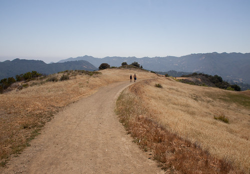 Couple on Eagle Rock Trail, Topanga State Park - California