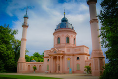 Turkish style Pink Mosque at Schloss Schwetzingen Palace Landscape Gardens - Germany (mbell1975) Tags: pink summer castle gardens germany landscape deutschland europe style palace mosque german residence schloss château turkish deutsch schwetzingen residenz the badenwürttemberg vigilantphotographersunite ilobsterit