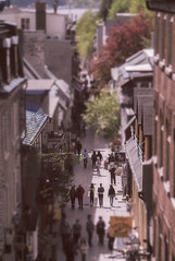 Old Quebec City Tiltshift (Geekgirly) Tags: nikon doors quebec davo pointandshoot quebeccity tiltshift oldquebeccity 2013 p7100 geekgirly wwwgeekgirlyca