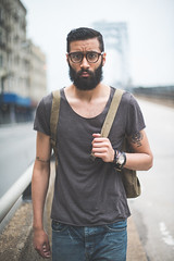 Eli II (RomanMFrance) Tags: nyc men fashion portraits beard fun cool nikon models style blogs d800 menswear loopdeluxe