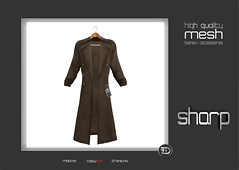 sharp by [ZD] - Mesh Duster (shine & sharp by [ZD]) Tags: life urban brown man black male men fashion by demo grey cool beige shine dress place mesh market coat grau sharp sl jacket fawn dresses duster second mann cloak marketplace mp braun mode schwarz mantle mnner jacke mantel kleidung overcoat menswear kleid mnnlich zd greatcoat inworld zddesign