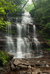 Ganoga Falls, Ricketts Glen (VermontDreams) Tags: rain waterfall pennsylvania falls pa waterfalls rickettsglen june2011 ganogafalls vermontdreams